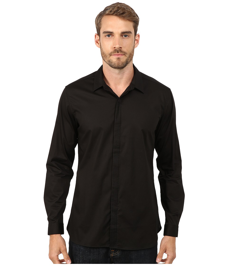 7 Diamonds - Centuries Long Sleeve Shirt (Black) Men's Long Sleeve Button Up