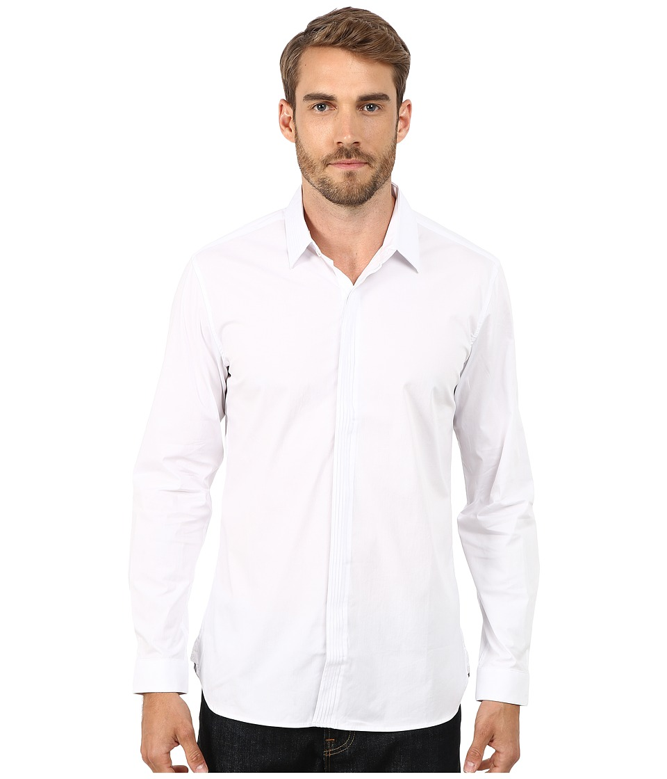 7 Diamonds - Kings Bridge Long Sleeve Shirt (White) Men's Long Sleeve Button Up