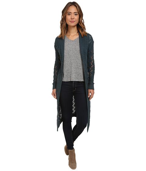 UNIONBAY - Bellingham Geo Amanda Cardigan (Slate Blue) Women's Sweater