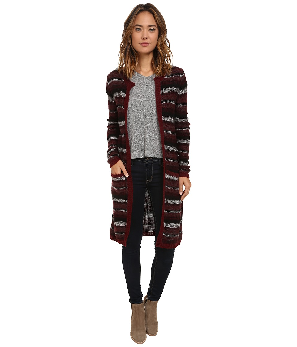 UNIONBAY - Galaxy Stripe Nina Cardigan (Cabernet) Women's Sweater