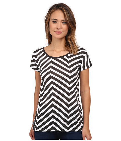 UNIONBAY - Uptown Zigzag Chloe Top (Black) Women's Clothing
