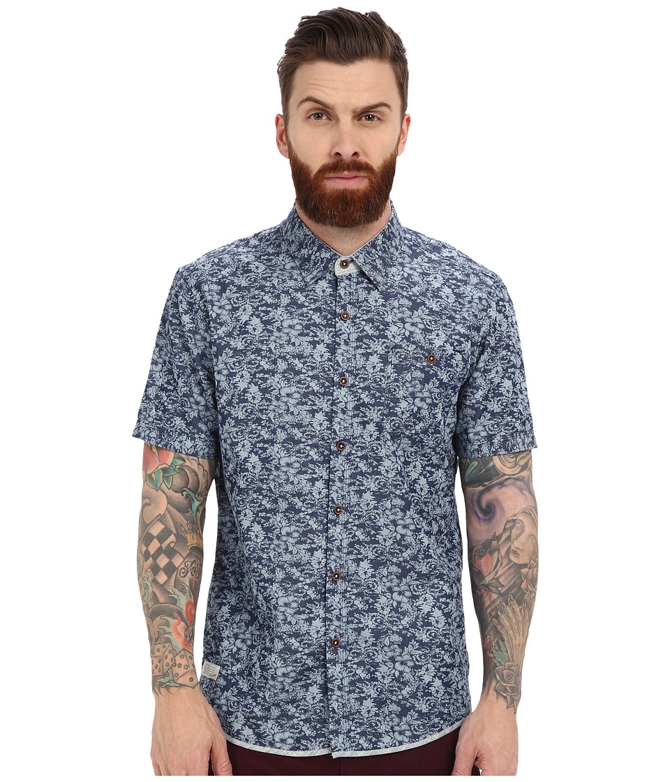 7 Diamonds - Just A Ride Short Sleeve Shirt (Navy) Men's Short Sleeve Button Up