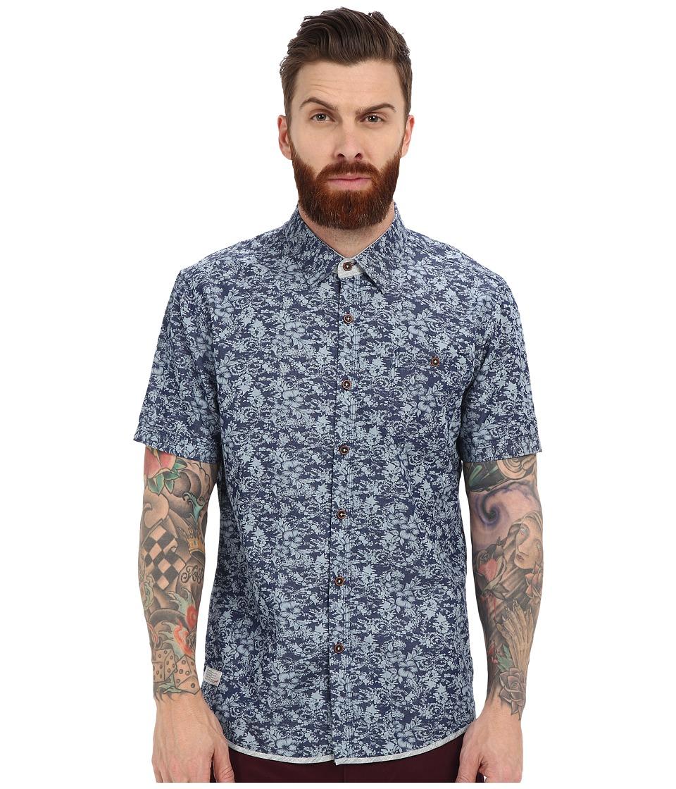7 Diamonds Just A Ride Short Sleeve Shirt (Navy) Men