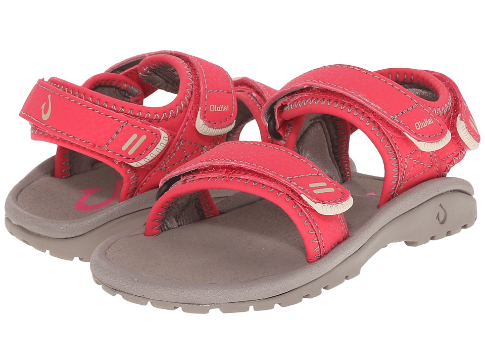 OluKai Kids - Pahu (Toddler/Little Kid/Big Kid) (Fuchsia/Graphite) Girls Shoes