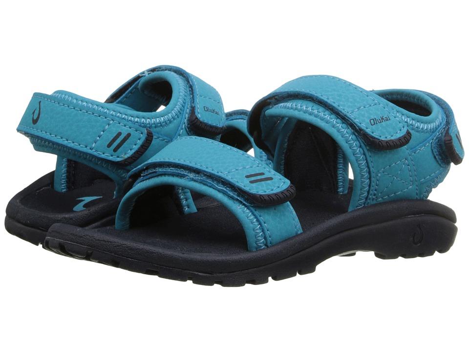 OluKai Kids - Pahu (Toddler/Little Kid/Big Kid) (Marine/Trench Blue) Girls Shoes