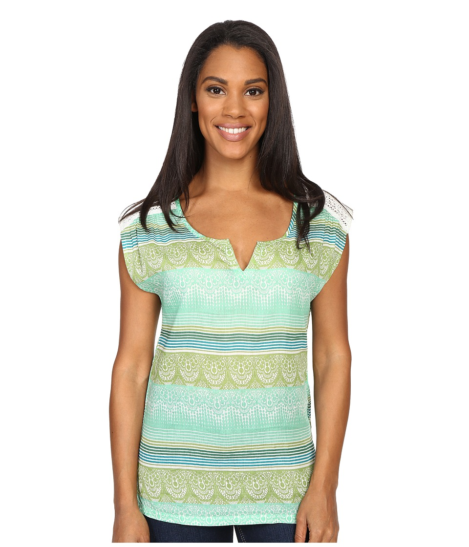 Prana - Illiana Top (Jade Cream) Women's Short Sleeve Pullover