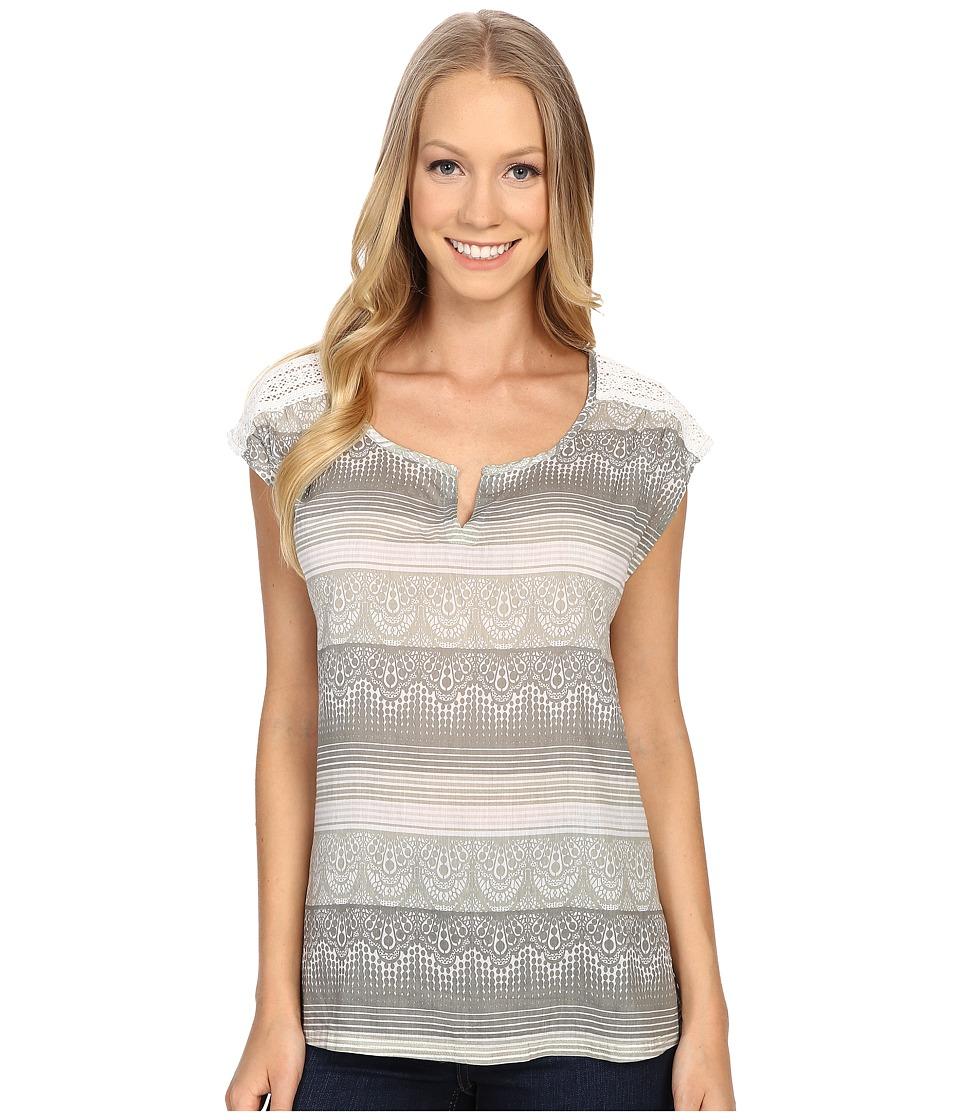 Prana - Illiana Top (Moonrock) Women's Short Sleeve Pullover