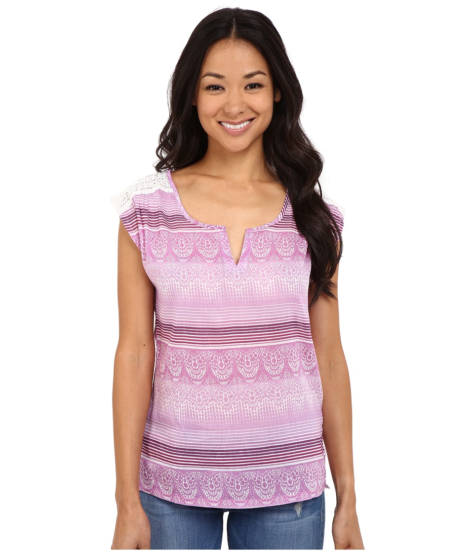 Prana - Illiana Top (True Orchid) Women's Short Sleeve Pullover