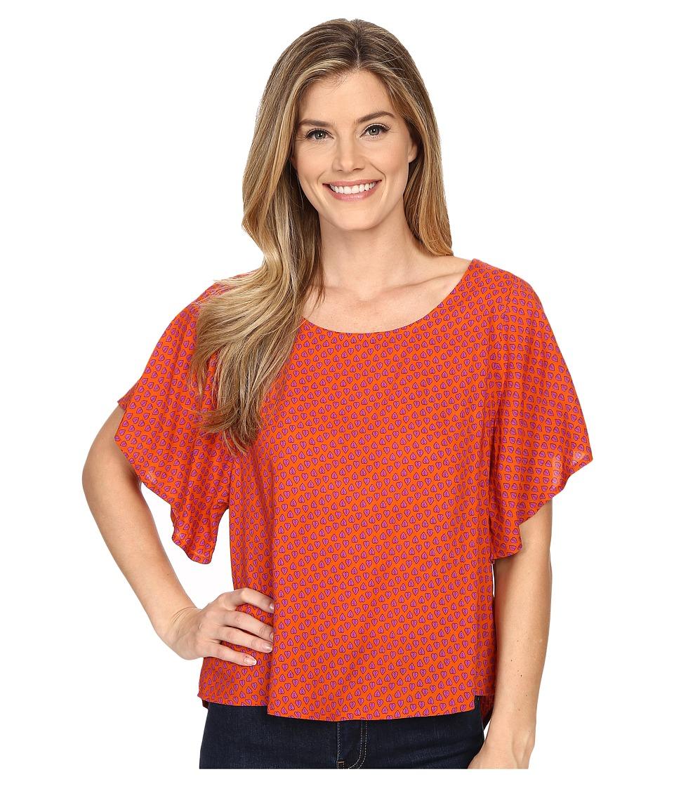 Prana - Emmi Top (Clay) Women's Short Sleeve Pullover