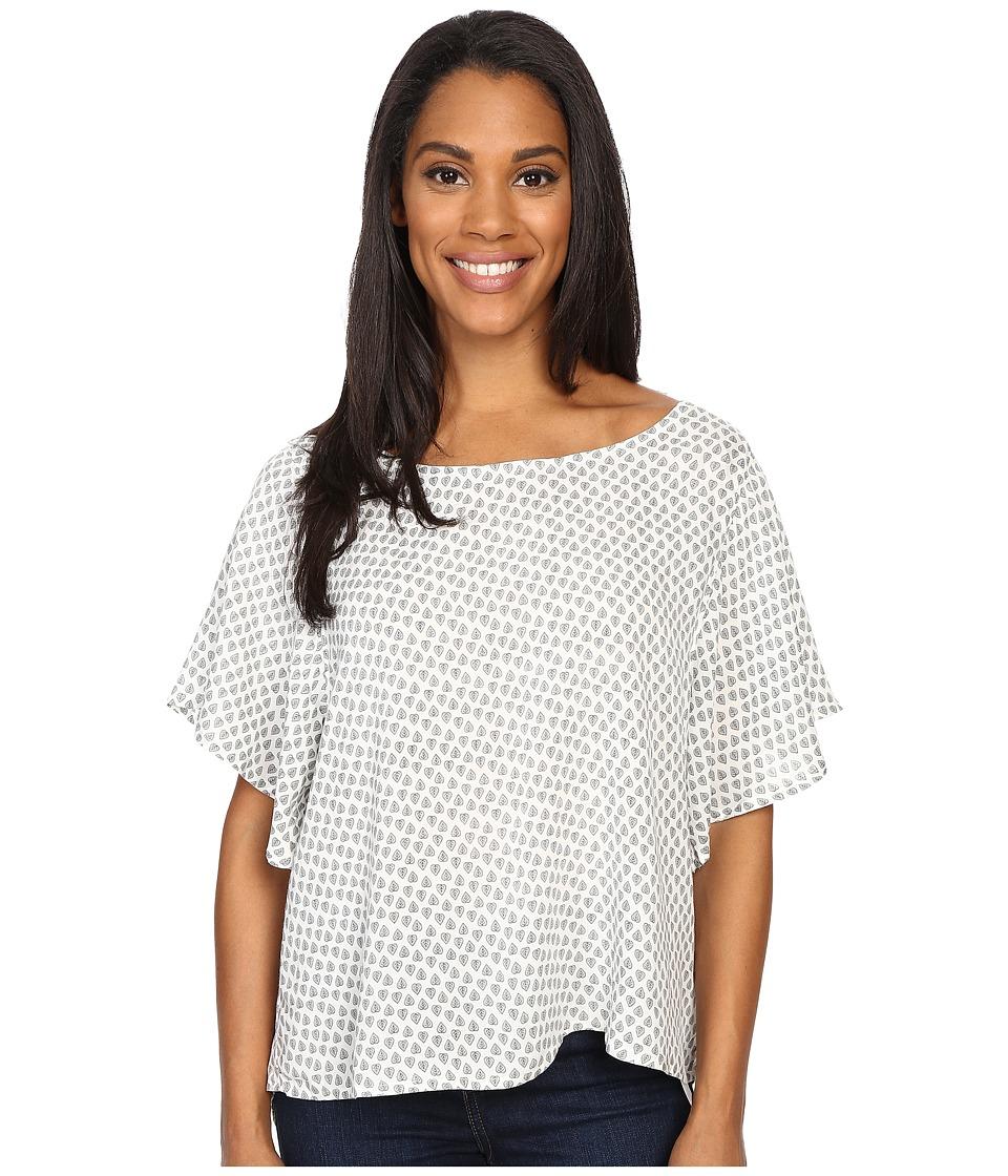 Prana - Emmi Top (White) Women's Short Sleeve Pullover