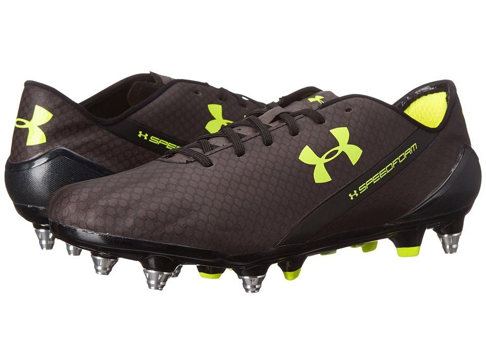 Under Armour - UA Speedform CRM Hybrid (Black/Graphite/High-Vis Yellow) Men's Soccer Shoes