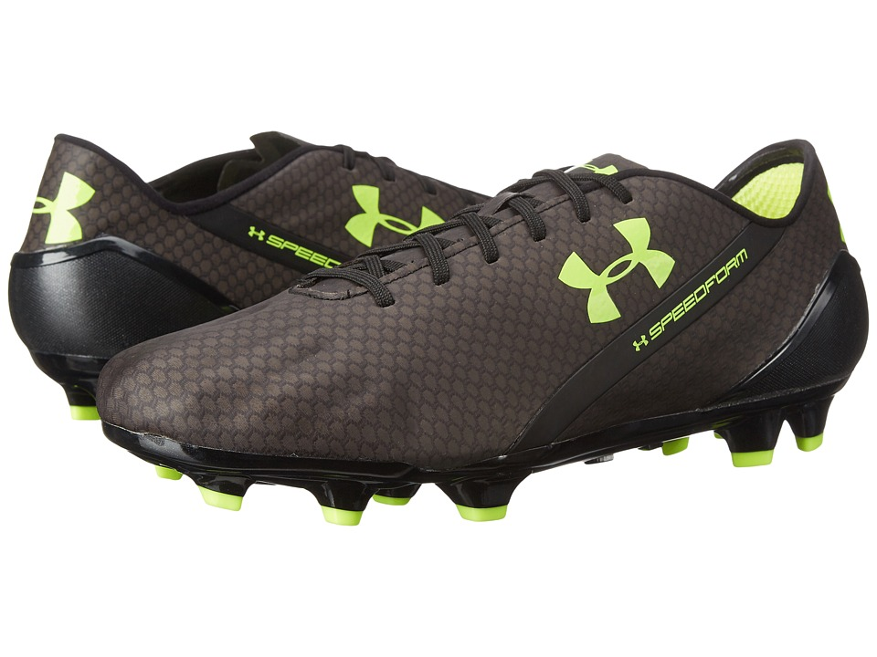 Under Armour - UA Speedform CRM FG (Black/Graphite/High-Vis Yellow) Men's Soccer Shoes