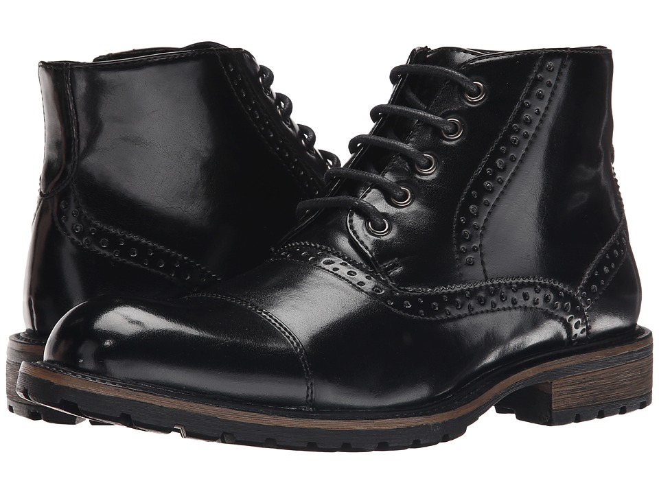 Steve Madden - Scribe (Black) Men's Dress Lace-up Boots