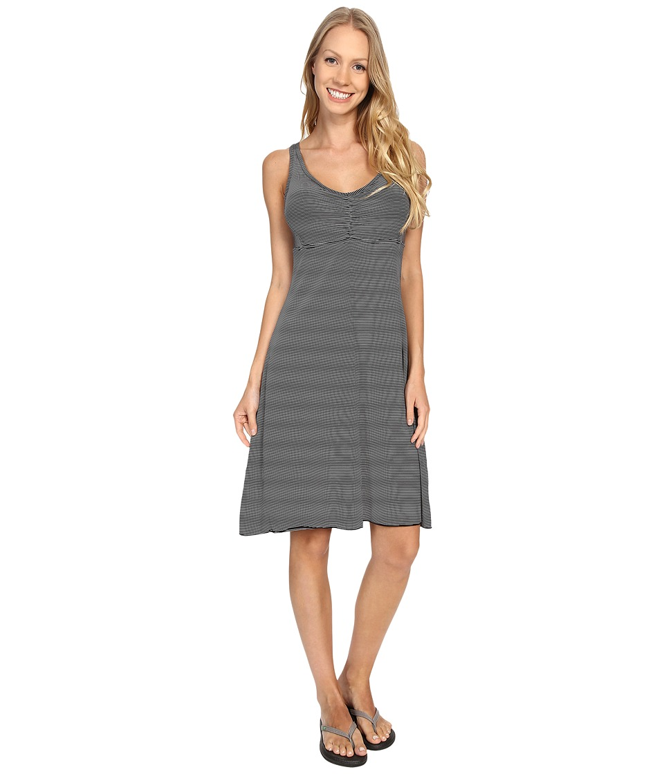 Prana - Rebecca Dress (Black Pinstripe) Women's Dress