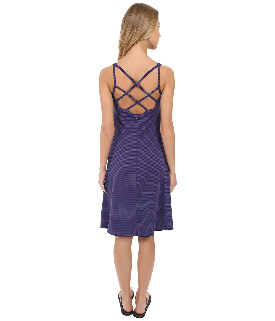 Prana - Rebecca Dress (Indigo Pinstripe) Women's Dress