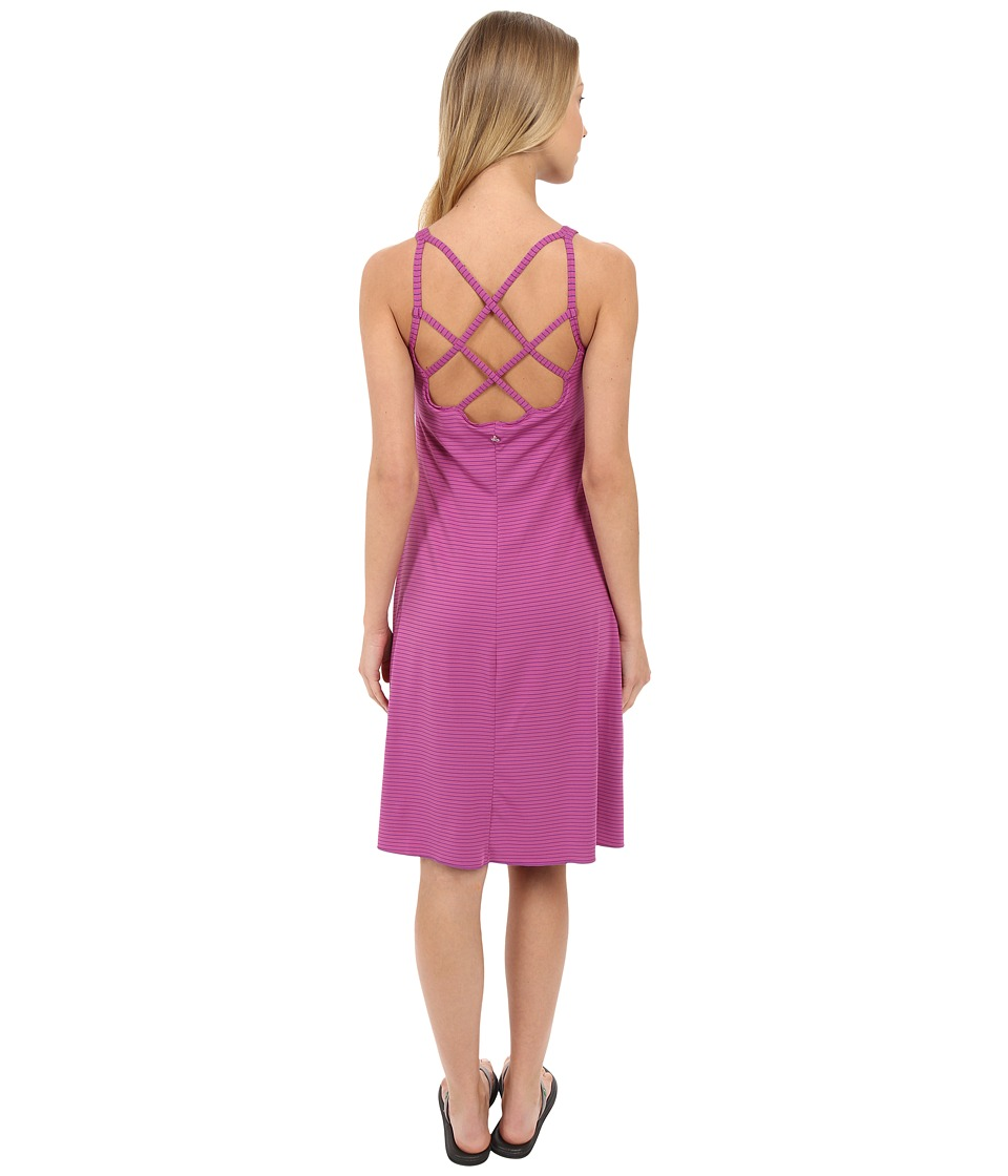 Prana - Rebecca Dress (Orchid Pinstripe) Women's Dress