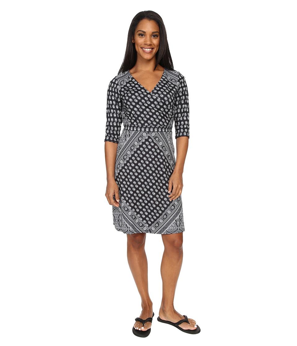 Prana - Belladonna Long Sleeve Dress (Charcoal) Women's Dress
