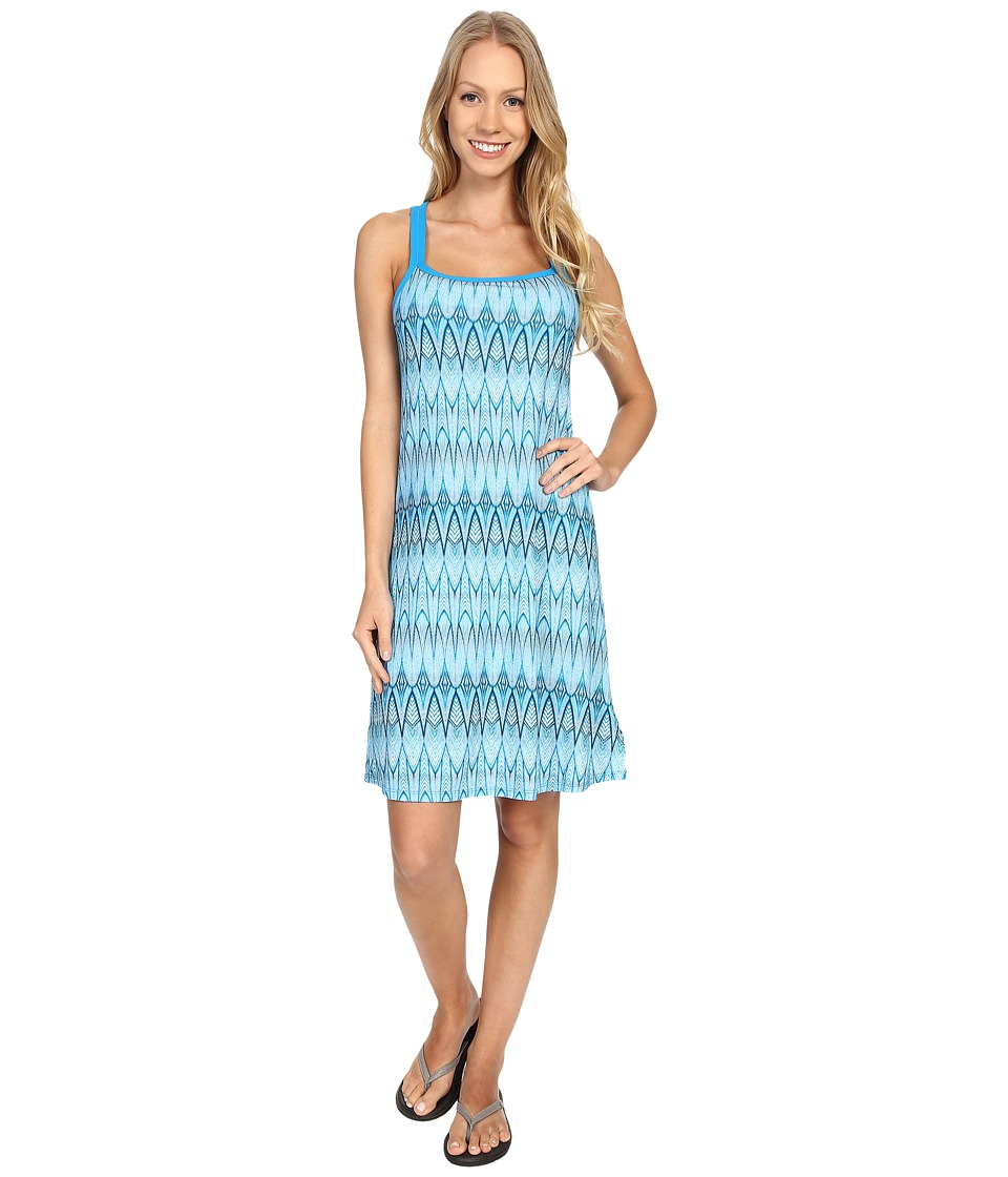 Buy Prana Cora Dress Blue Feather Womens Dress - shop Prana dresses