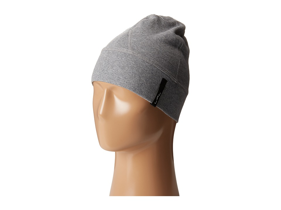 LAUREN by Ralph Lauren - Cotton Poly Fleece Beanie (Mid Grey) Beanies
