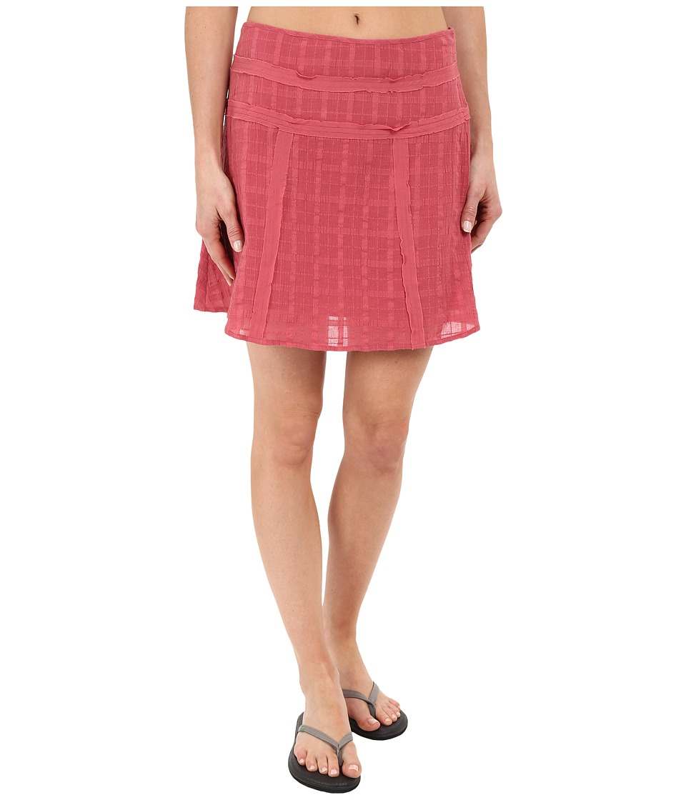 Prana Erin Skirt (Red Slate) Women