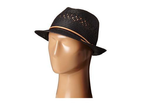 LAUREN by Ralph Lauren - Eyelet Fedora (Black) Fedora Hats