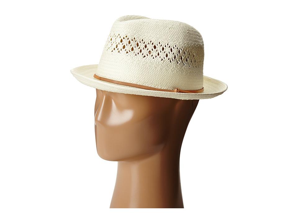 LAUREN by Ralph Lauren - Eyelet Fedora (Pearl) Fedora Hats