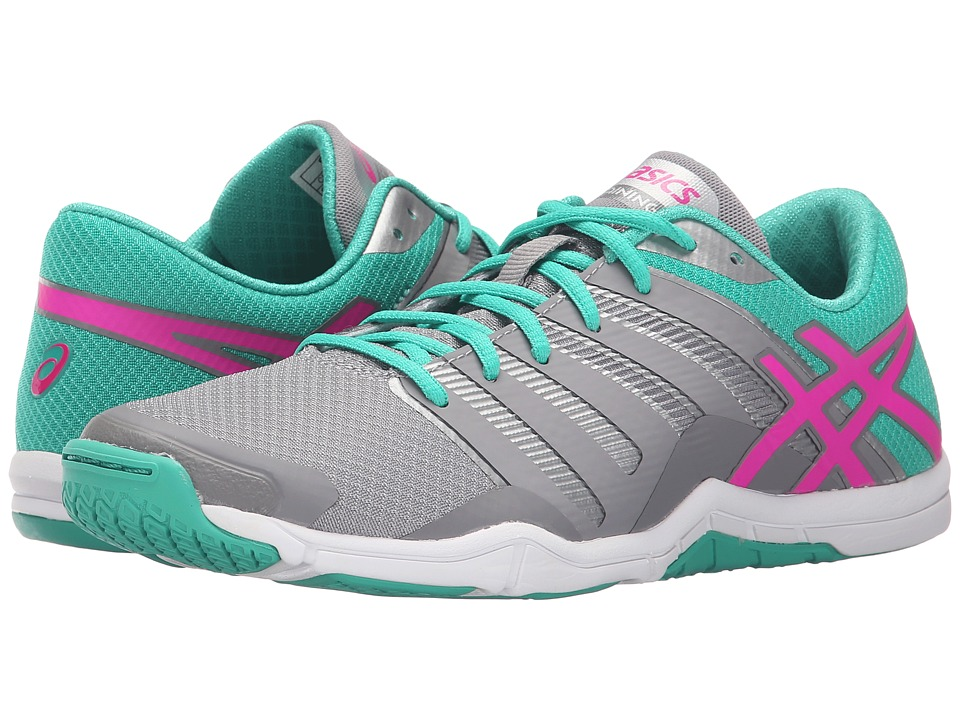 ASICS - Met-Conviction (Taupe/Pink Glow/Peacock Green) Women's Shoes
