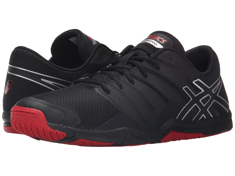 ASICS - Met-Conviction (Black/Silver/Racing Red) Men's Shoes