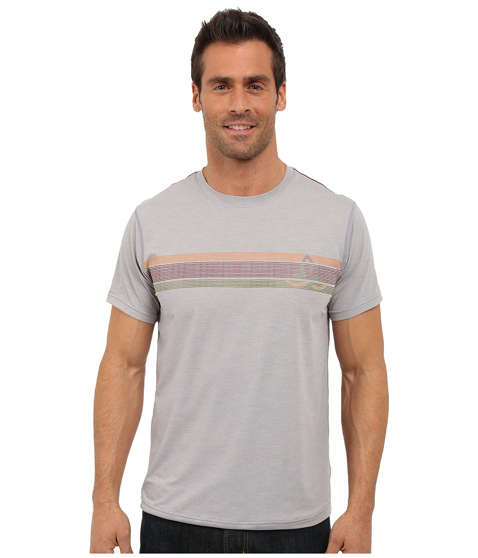 Prana - Calder Short Sleeve Tee (Light Grey) Men's T Shirt