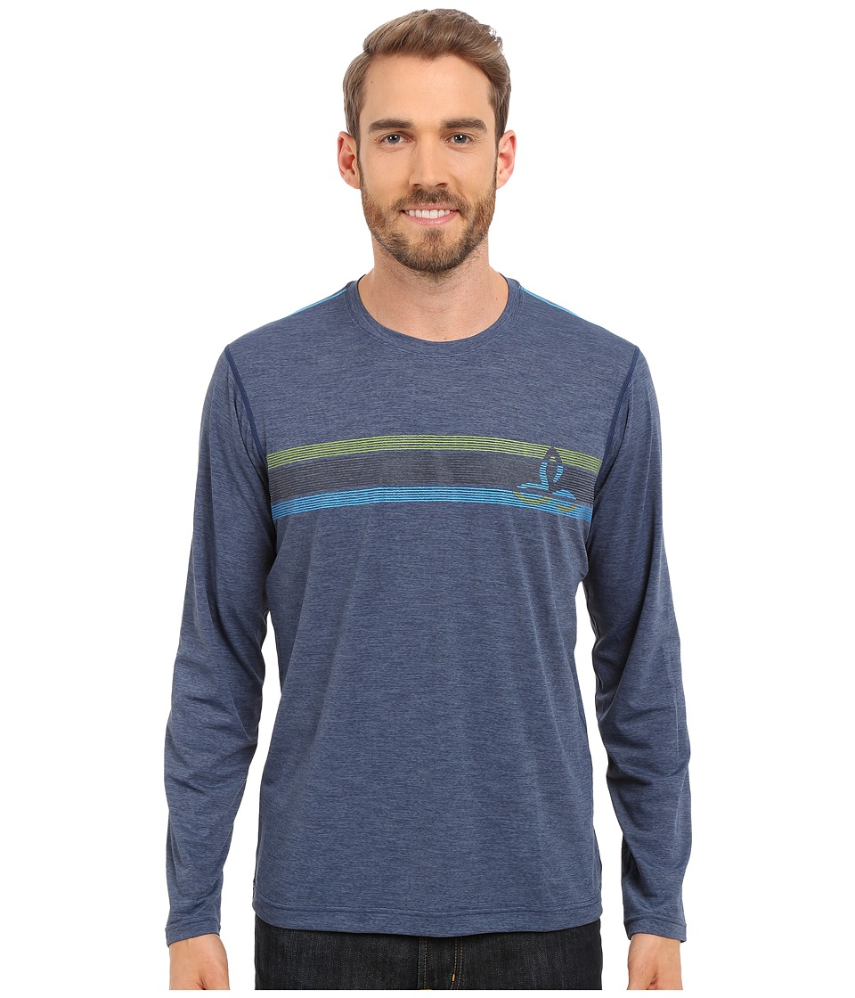Prana - Calder L/S (Blue Ridge) Men's Long Sleeve Pullover