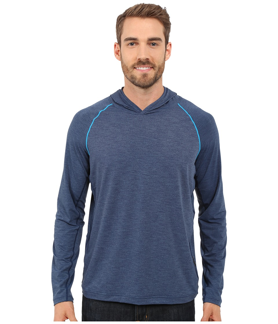 Prana - Calder Hoodie L/S (Blue Ridge) Men's Long Sleeve Pullover