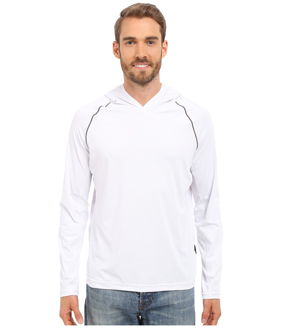 Prana - Calder Hoodie L/S (White) Men's Long Sleeve Pullover