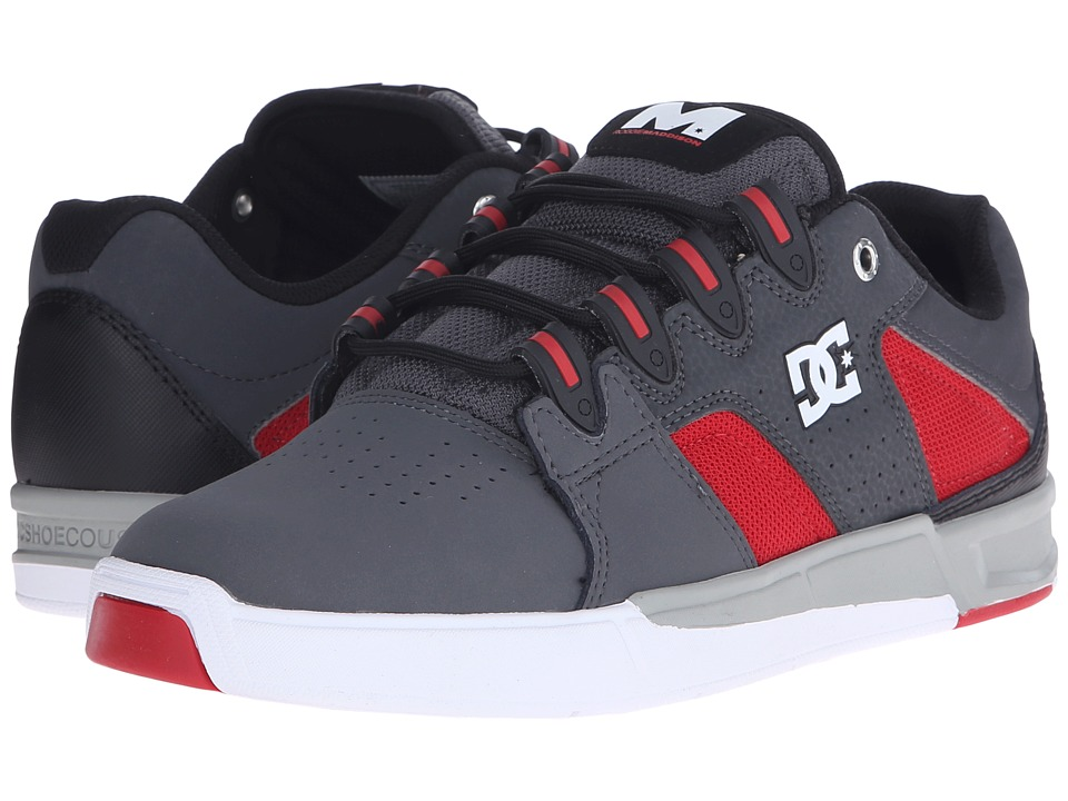 DC - Maddo (Grey/Red/White) Men's Skate Shoes