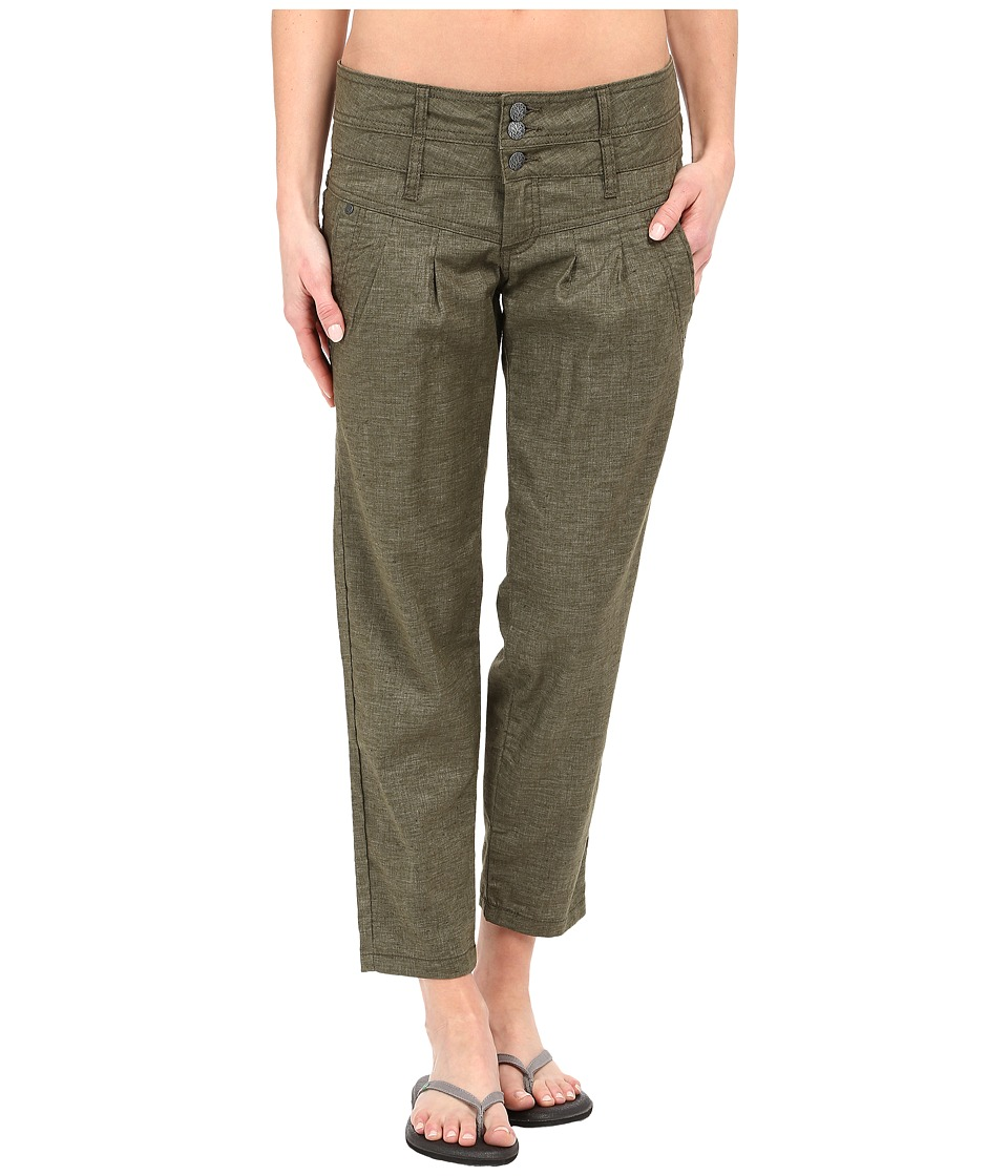 Prana - Lizbeth Capris (Cargo Green) Women's Casual Pants