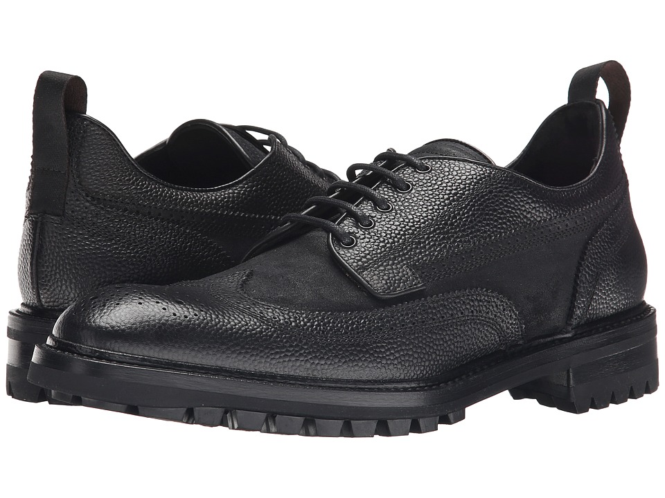 rag & bone - Spencer Wingtip (Black) Men's Lace Up Wing Tip Shoes