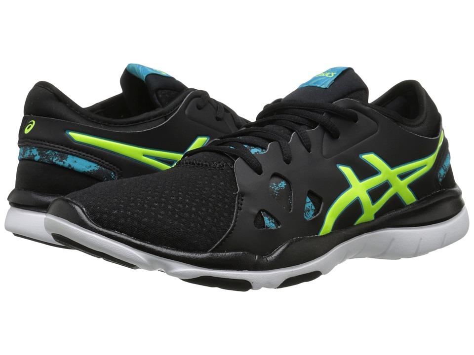 ASICS - Gel-Fit Nova 2 (Black/Flash Yellow/Scuba Blue) Women's Shoes