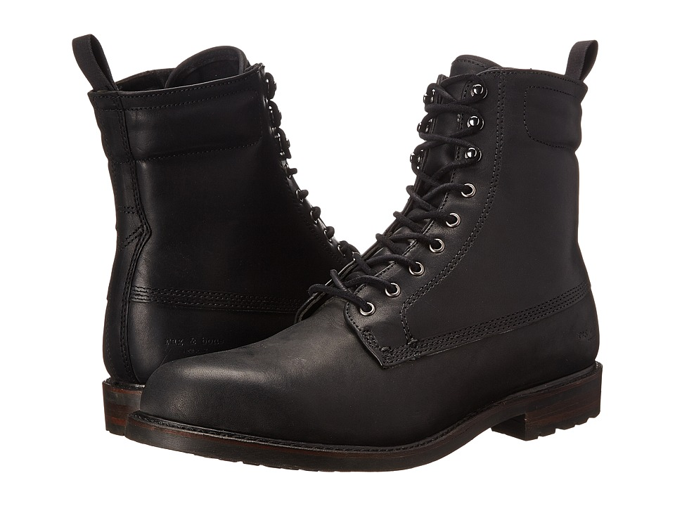rag & bone - Officer Boot II (Black) Men's Lace-up Boots