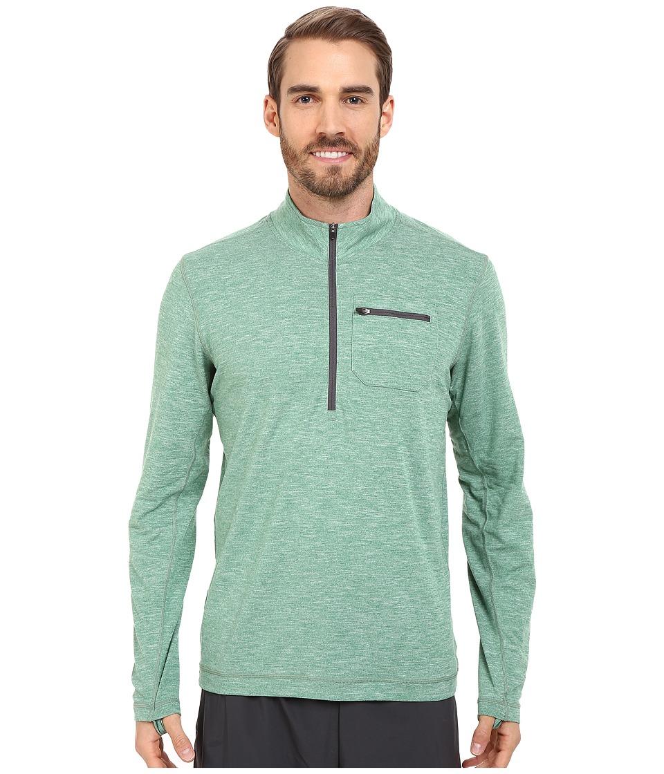 Prana - Zylo 1/4 Zip (Dusty Pine) Men's Long Sleeve Pullover