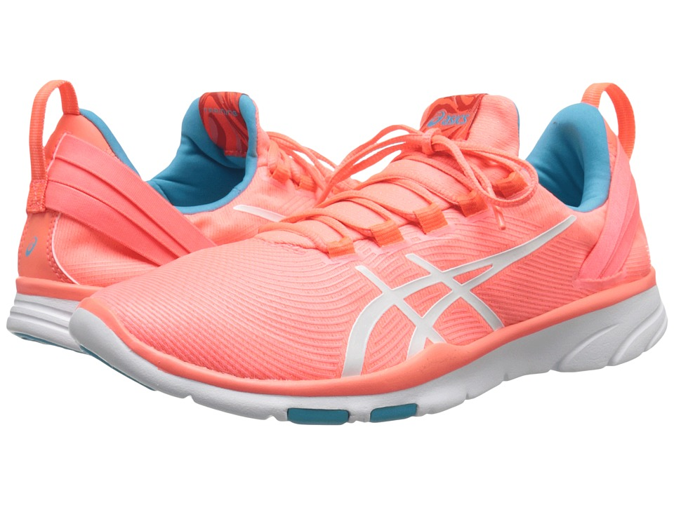 ASICS - Gel-Fit Sanatm 2 (Flash Coral/White/Scuba Blue) Women's Cross Training Shoes