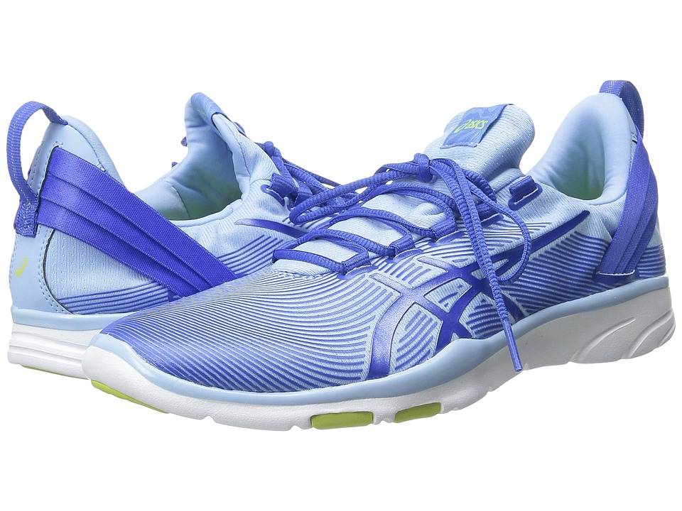 ASICS - Gel-Fit Sana 2 (Blue Bell/Blue Purple/Lime) Women's Cross Training Shoes