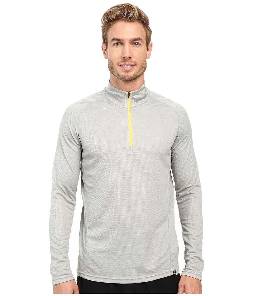 Prana - Orion 1/4 Zip (Silver) Men's T Shirt