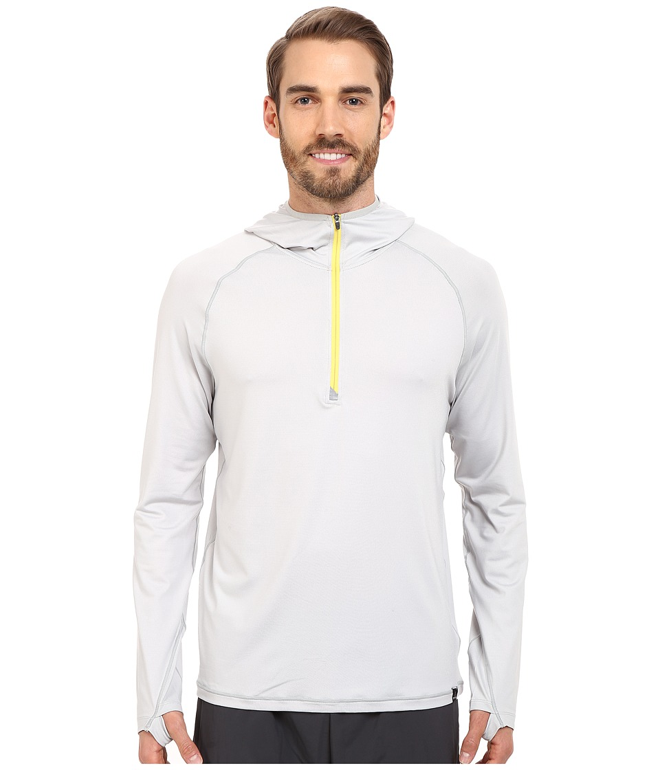 Prana - Breaker 1/4 Zip Hoodie (Silver) Men's Sweatshirt