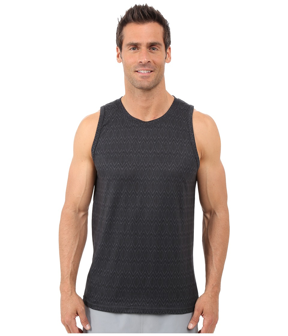 Prana - Ridge Tech Tank (Coal Ridge Print) Men's Sleeveless