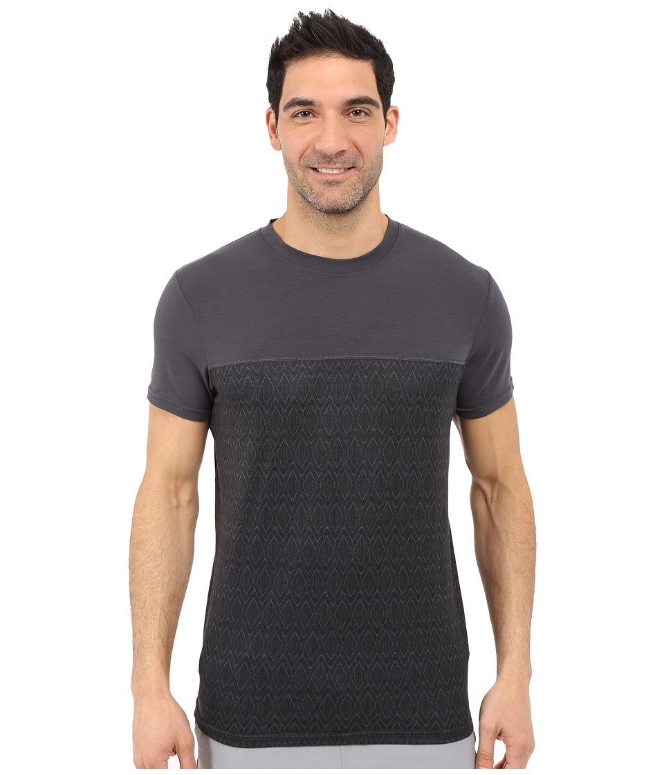 Prana - Ridge Tech Tee (Coal Ridge Print) Men's Short Sleeve Pullover