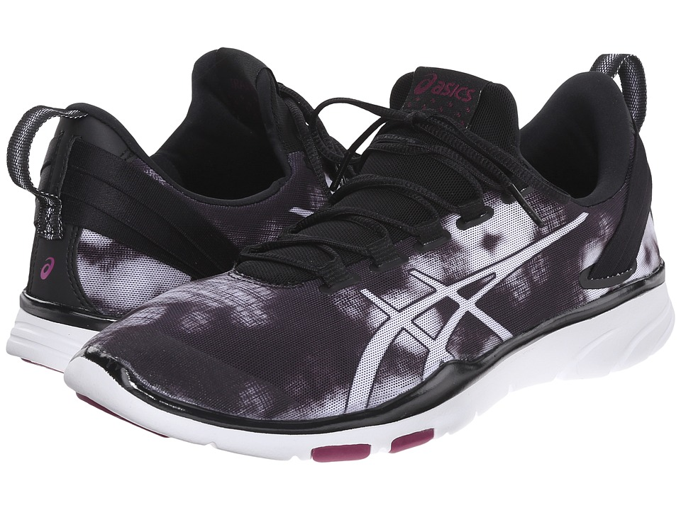 ASICS - Gel-Fit Sana 2 (Black/White/White) Women's Cross Training Shoes
