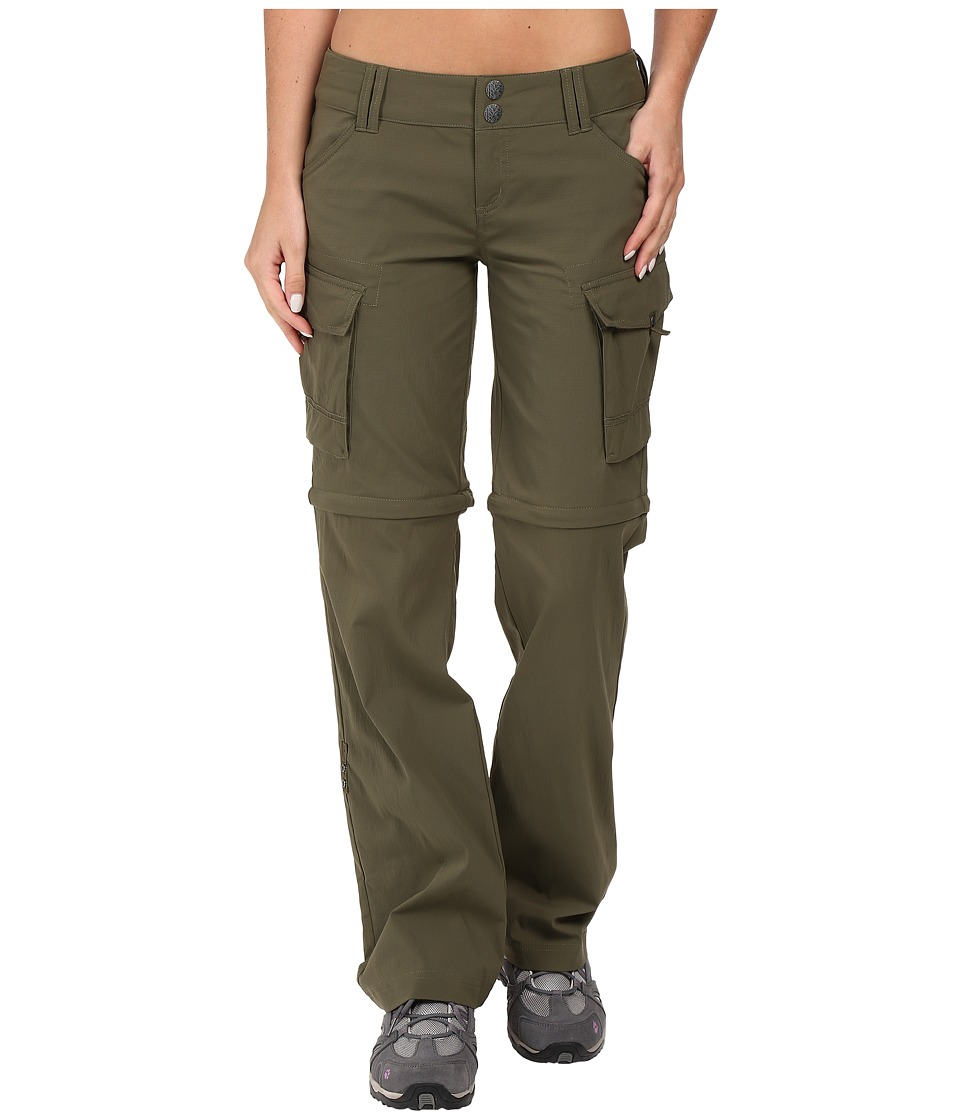 Prana Sage Convertible Pants (Cargo Green) Women