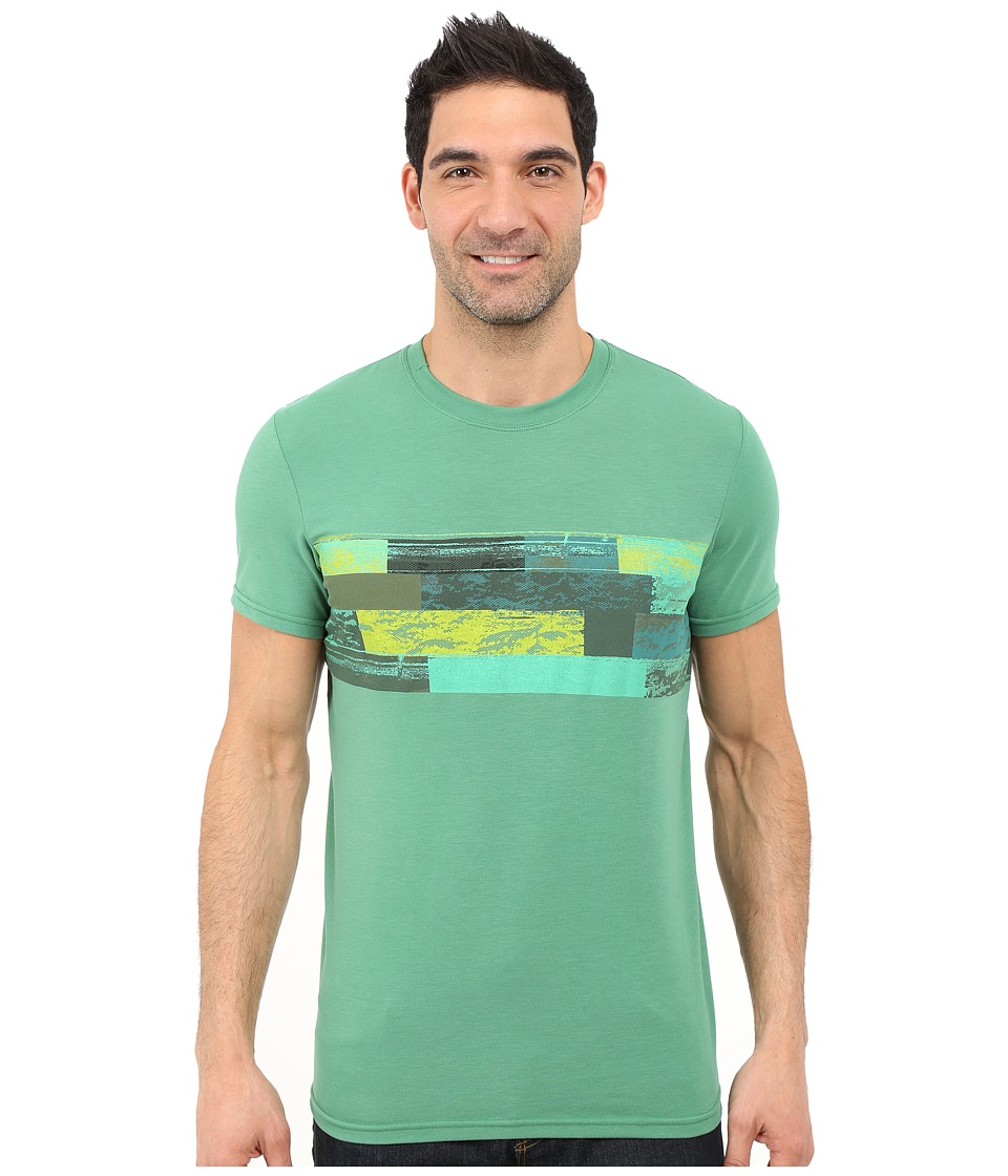 Prana Printed Ridge Tech Tee (Dusty Pine) Men