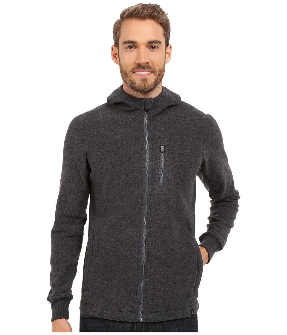 Prana - Drey Full Zip (Coal) Men's Long Sleeve Pullover
