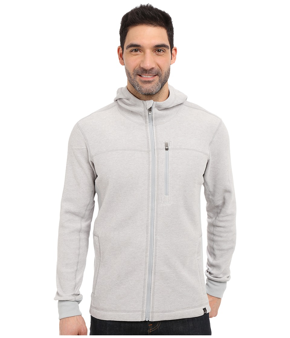 Prana - Drey Full Zip (Silver) Men's Long Sleeve Pullover