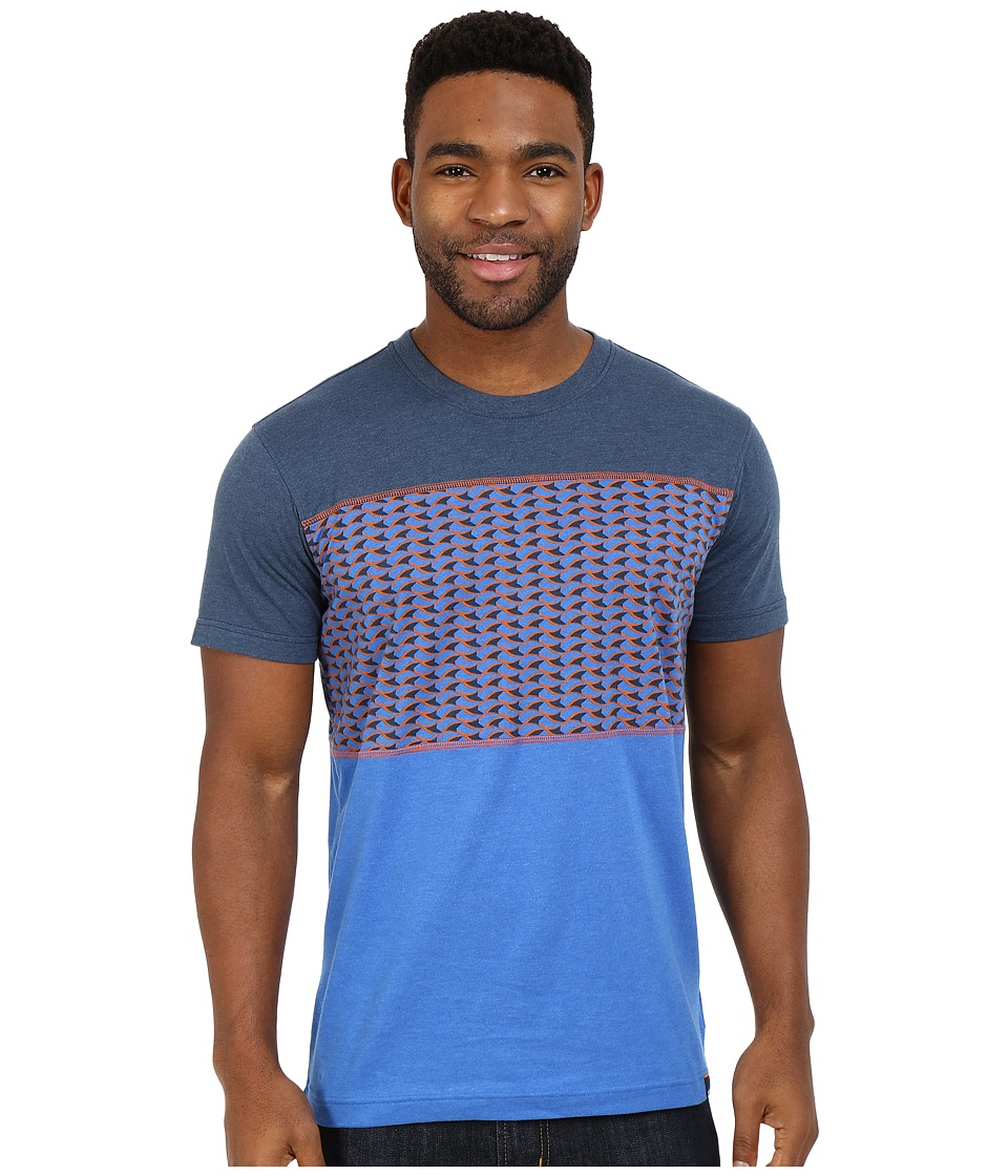 Prana - Throttle Colorblocked Crew T-Shirt (Nautical) Men's Short Sleeve Pullover